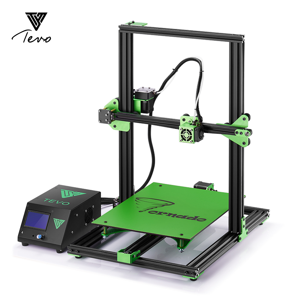 2017 TEVO Tornado Impresora 3D Fully Assembled 3D Printer 300*300*400mm Printing Area Full Aluminium Frame with Titan Extruder 2017 newest tevo tarantula 3d printer impresora 3d diy impressora 3d with filament micro sd card titan extruder i3 3d printer