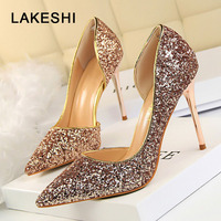 Women Pumps Bling High Heels Women Pumps Glitter High Heel Shoes Woman Sexy Wedding Party Shoes