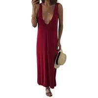 Sexy Backless Open Shoulder Deep V Neck Sleeve Camisole Dress Bohemian Beach Sundress Vintage Vestidos De