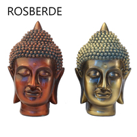 Rosberde Resin India Buddha statue head home decor statue sculpture home garden decoration Yoga Sculpture Living room decoration