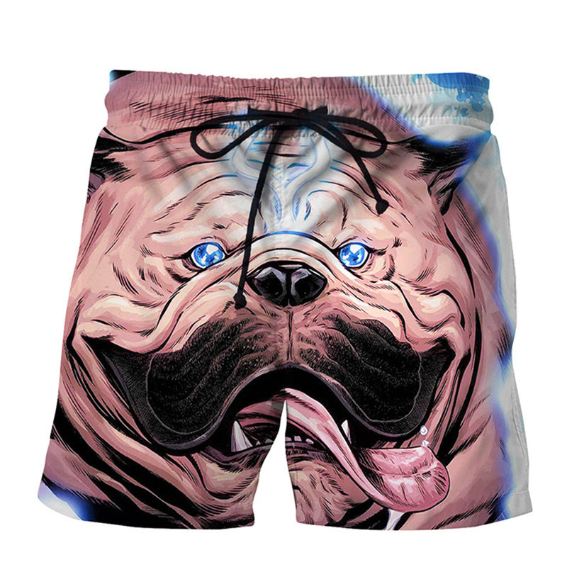 Newest Men's 3D Dog Head Printed Beach Pants Dog Printing   Board     Shorts   Men   Short   Trousers Man Loose Trunks Dropship