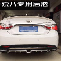 For Sonata forte Body kit bumper rear lip rear ABS Rear Diffuser Bumper Spoiler Rear Lip Bumper Trunk Protector Car Accesories