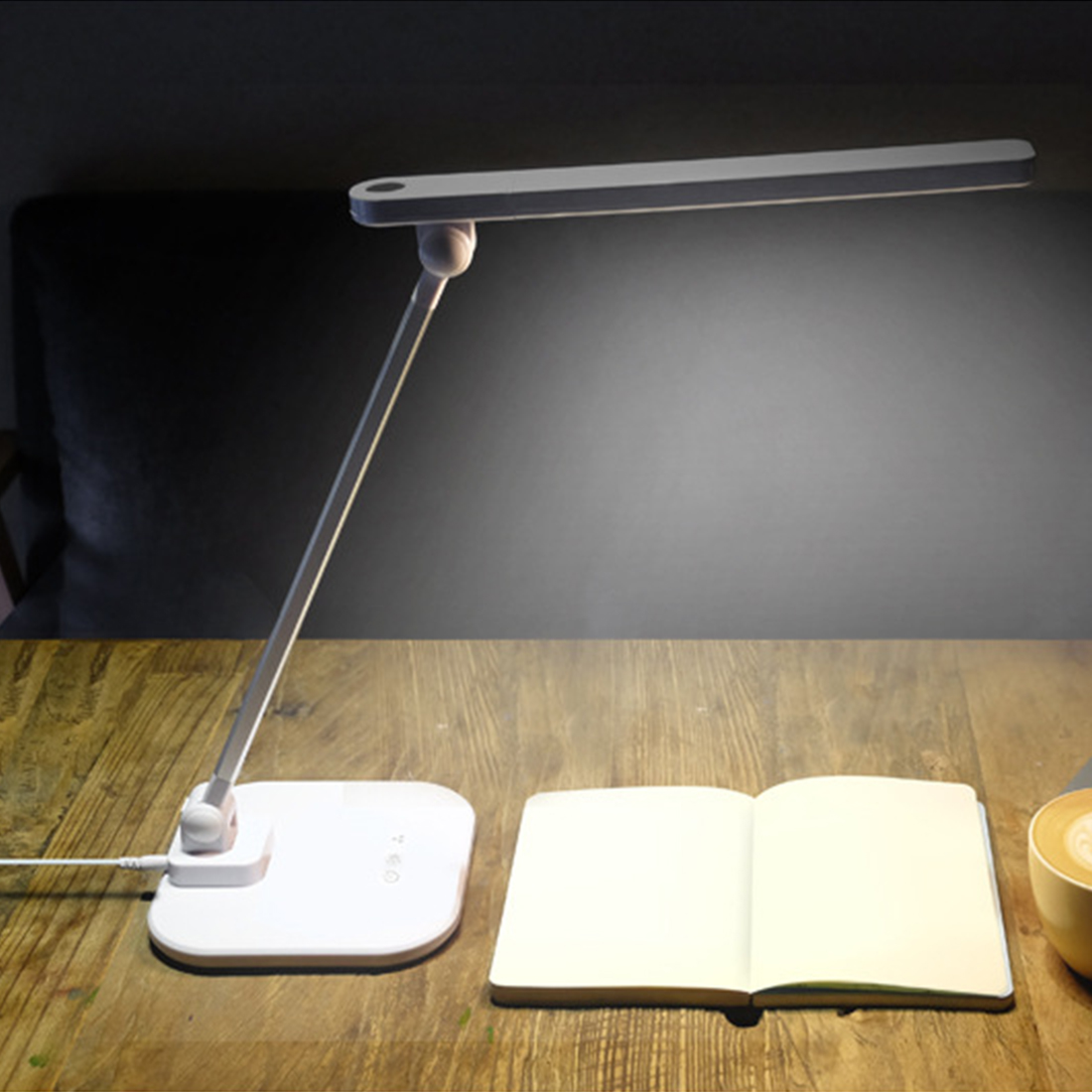 5W 36LED Desk Lamp Foldable Dimmable Rotatable Eye Care LED Touch-Sensitive Controller USB Charging Port Table Lamp chic short wigs for women human hair w bangs fluffy pixie cut wig brown