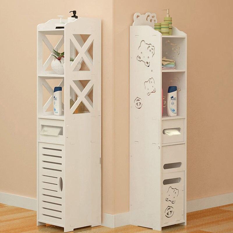 All Sizes Bathroom Vanity Floor Standing Bathroom Storage Cabinet Washbasin Shower Corner Shelf Plants Sundries Storage Racks