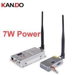 7W 6ch 1.2G Wireless cctv transceiver for cctv 1.2G Video Audio Transmitter image transmission FPV transmitter drone transmitter