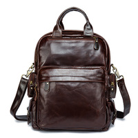 YISHEN Unisex Fashion Genuine Cowhide Leather Women Men Backpack Solid School Bags For Boys Girls Casual