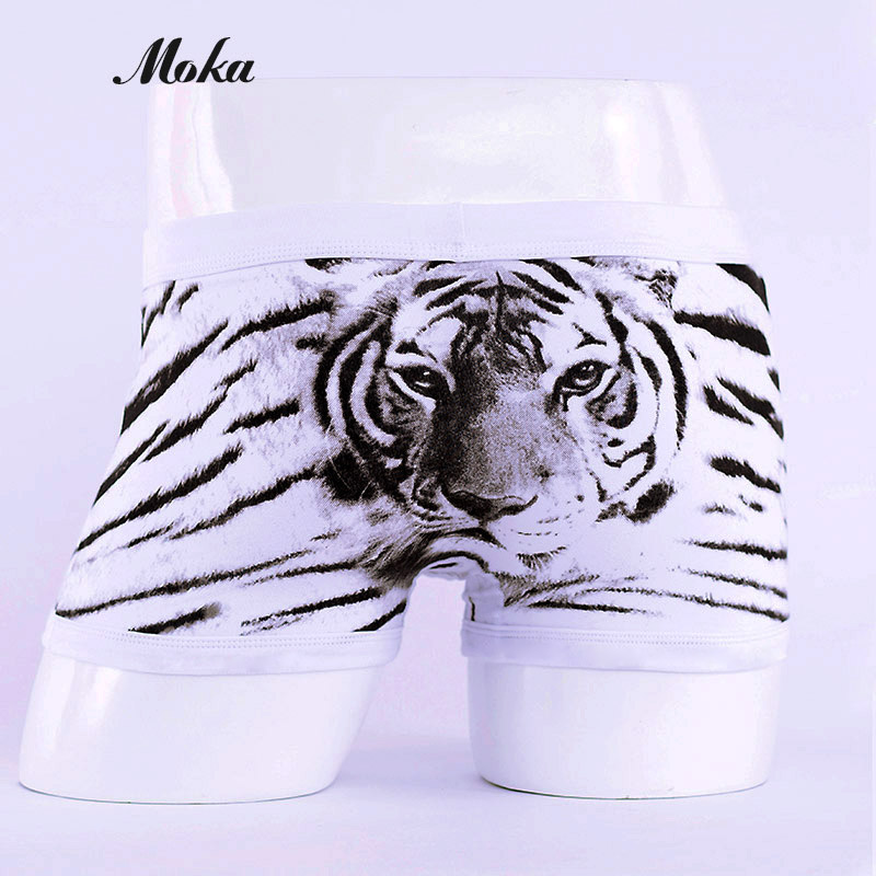 Animal Boxer Men Underwear Pink Cotton Panties Calzoncillos Hombre Boxer Tiger Strong Men Underwear Hero Breathable Underpants