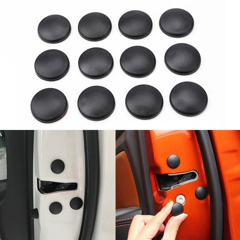 12Pcs/set Universal Car Door Lock Screw Protector Cover For Honda