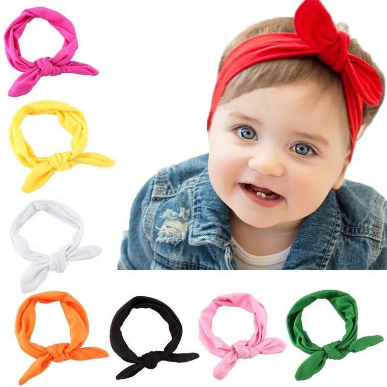 Crianças Headband do Arco Para A Menina Hairbands Orelha de Coelho Headband do Turbante Nó Crianças Turbantes Acessório Faixa de Cabelo Para Bebe Menina