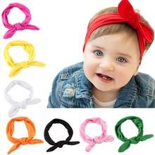 цена на Kids Headband Bow For Girl Rabbit Ear Hairbands Turban Knot Kids Turbans Accessoire Faixa Cabelo Para Bebe Headband Baby Girl