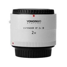 Orijinal Yongnuo YN 2.0X III PRO 2x Teleconverter Genişletici Otomatik Odak Dağı Lens Kamera canon lensi EOS EF Lens