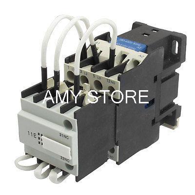 CJ19-25 Ui 500V 380V Coil 25A Pole 1NO Changeover Capacitor AC Contactor