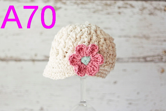 248e15dbb9e ... ireland 5pcs lot baby girl newsboy cap crochet newsboy hat girls billed  cap infant girls hat
