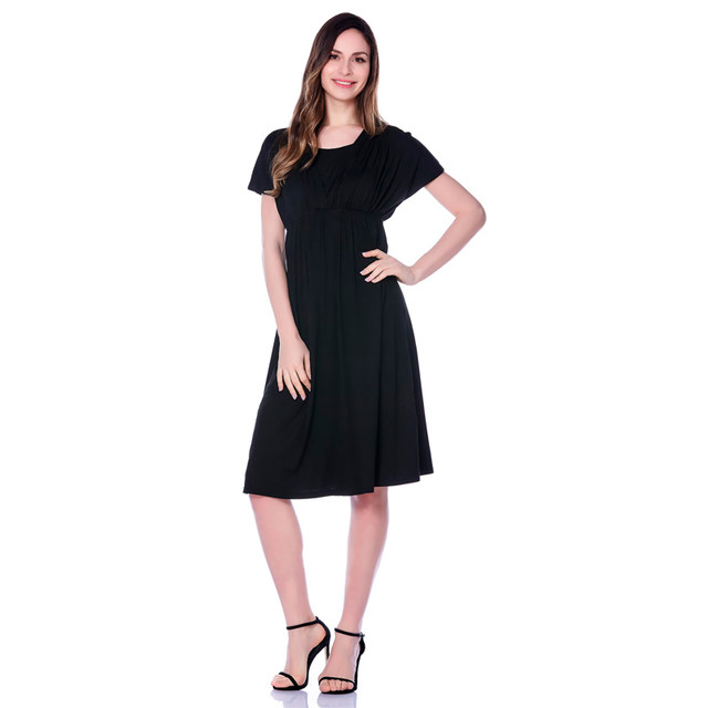 Online Shop V Neck Nursing Dress Pregnant Maternity Evening Dresses
