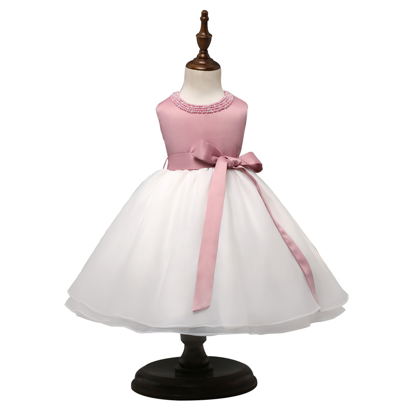 Summer Little Princess Girl Dress for Toddler vestido infantil 1T First Birthday Pink Dress for Baby Girls Christening Gown Wear