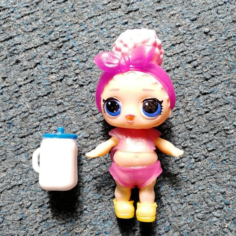 Random 1pcs 9cm LOL Dolls Boneca Little Toys Dress Drink Water Glitter Baby Doll Anime Brinquedos Figure Toys For Kids Gifts