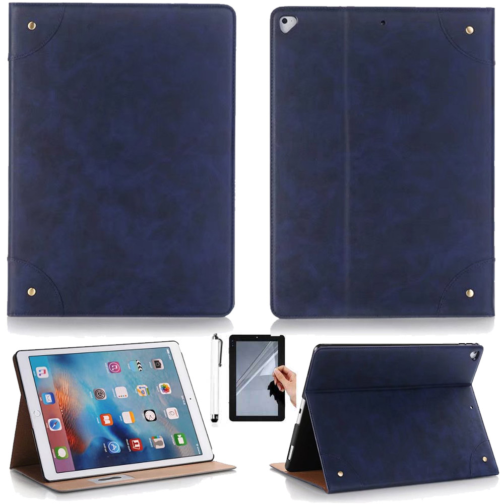Retro Design Ultra thin Leather Case Cover For Apple iPad pro 12.9 inch 2017 Release Flip Stand magnetic case Skin Capa surehin nice smart leather case for apple ipad pro 12 9 cover case sleeve fit 1 2g 2015 2017 year thin magnetic transparent back