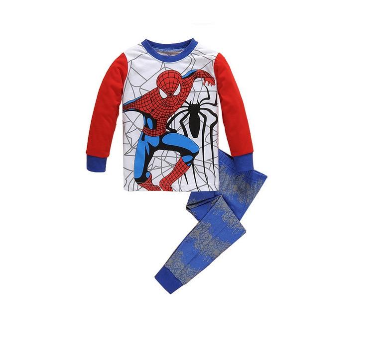 CostumeBuy Superhero Spider-man Pajamas Set Suit Children Boys Girls Baby Clothing Kids Long-sleeve Sleepwear