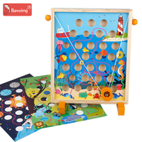 3 Year Old Montessori Fractions Wooden Sensory Toys for Baby Early Educational Waldorf Magnetic Toy Children Learning Toys T0232