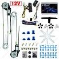 2-puertas Universal Car Auto Kits de la Ventana de Energía Eléctrica con 3 unids/set DC12V # CA4100 Interruptores y Arnés