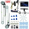 Universal 2-Doors Car Auto Electric Power Window Kits with 3pcs/Set Switches and Harness DC12V #CA4100