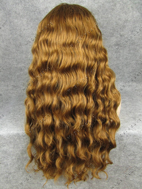 Free Shipping Honey Blonde Synthetic Box Braid Hair Wig Ginger