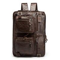 Narural Genuine Leather Laptop Backpack Handmade Vintage Rucksack Men Business School Book Daypack Designer Weekend Shoulder Bag