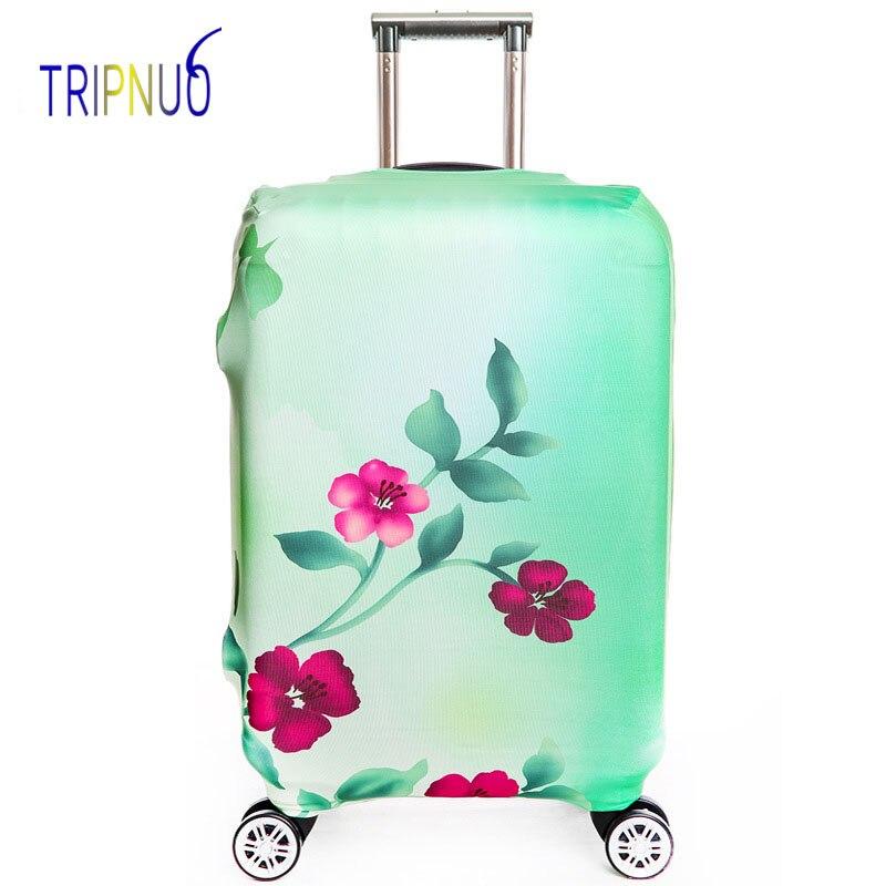 TRIPNUO эластичный зеленый цветок Чемодан защитная крышка, Suitable18-32 дюймов, троллейбус случае чемодан Пылезащитный чехол дорожные аксессуары