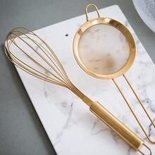 2 шт./компл. яичная поилка ручной венчик Миксер для яиц сито для муки шейкер Сетки Сито