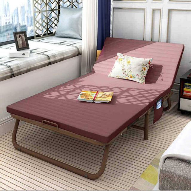 Modern Portable Folding Bed With Bed Frame Bedroom Furniture Soft Bed For Home Living room Office bett meubles de maison