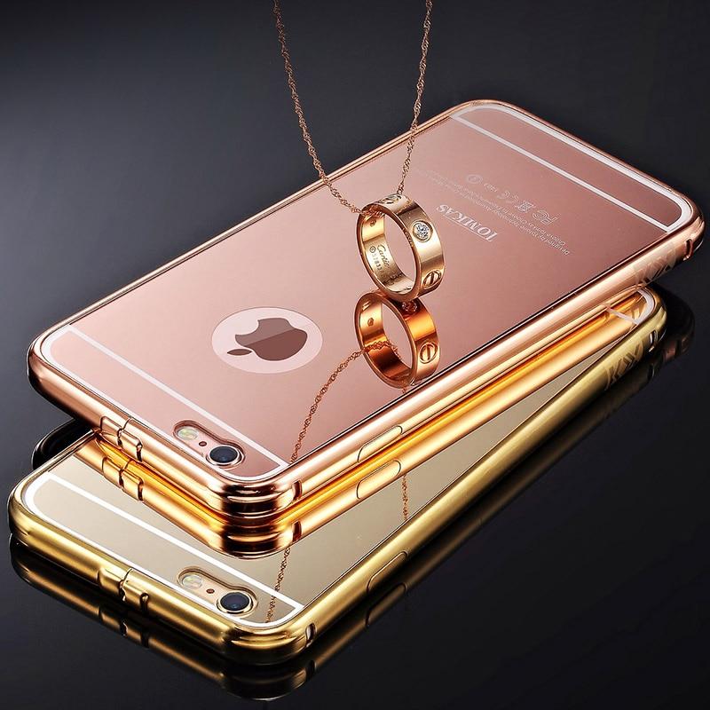 Spegelväska för iPhone 6 4,7 tums lyx akryl + aluminium smal - Reservdelar och tillbehör för mobiltelefoner - Foto 2