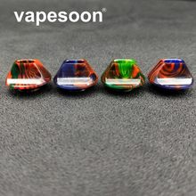 VapeSoon 810 Flat Resin Drip Tip For TFV8 BIG BABY TFV12 TFV8 X BABY 810 Thread Atomizer(China)