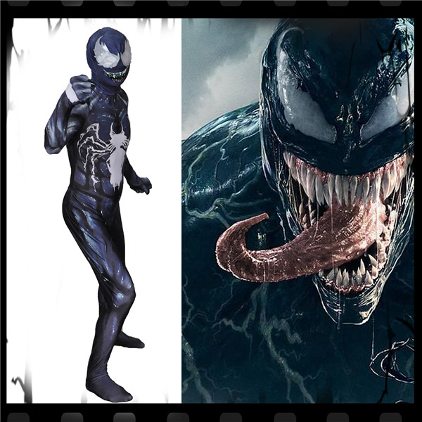 Halloween Cosplay Costume venin Symbiote combinaison serrée Cool Halloween jouer ensembles complets livraison gratuite A