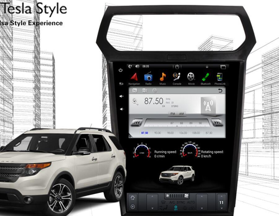 Вертикальный Экран Тесла Стиль Android 6,0 12,1 дюймов Сенсорный экран автомагнитолы PC PAD DVD для Ford Explorer gps навигации Системы