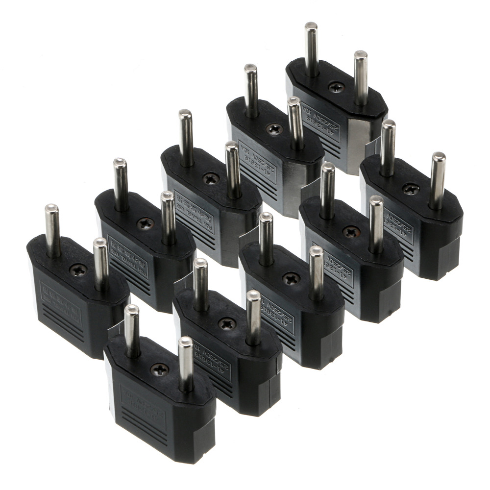 2017 new arrival! 100 PCS US/USA to European EU Travel Charger Adapter Plug Outlet Converter