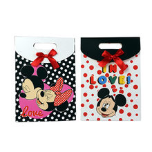 6 X Minnie Mickey Gift Bag Kids Birthday Party Favors Cartoon Candy Box Hand-held Paper Gift box(China)