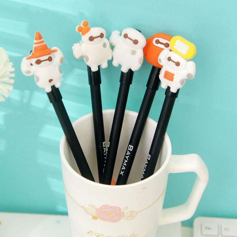 2X Cute Kawaii Baymax Big Hero Gel Pen Writing Signing Pen School Office Supply Student Stationery Rewarding