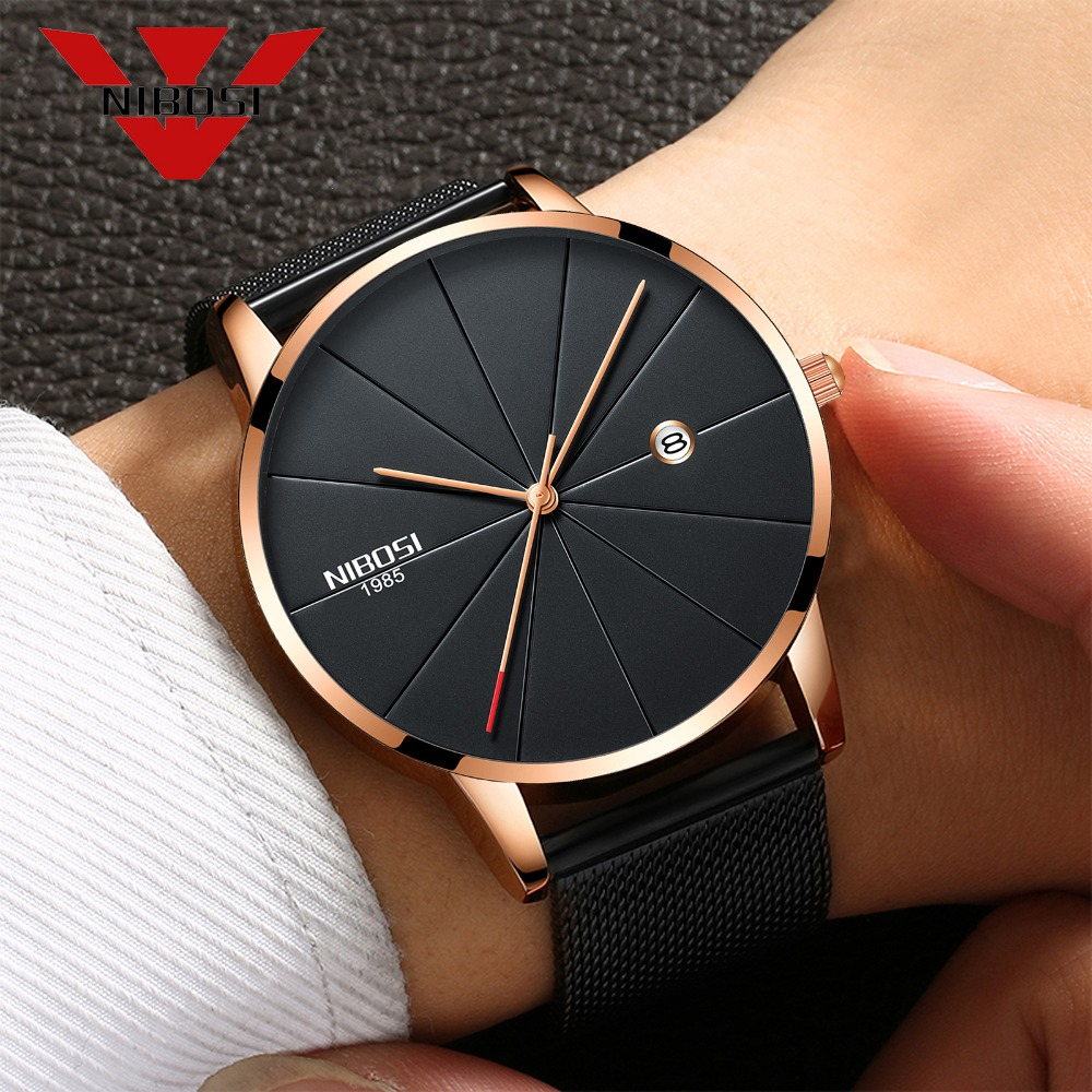 relojes hombre 2018 Top Brand NIBOSI Watches Men Super slim Famous Business Analog Quartz Watch Casual Wristwatch Drop-shipping relojes hombre 2018 nibosi dress brand watch men waterproof men s quartz watch business analog wristwatch stainless steel saat