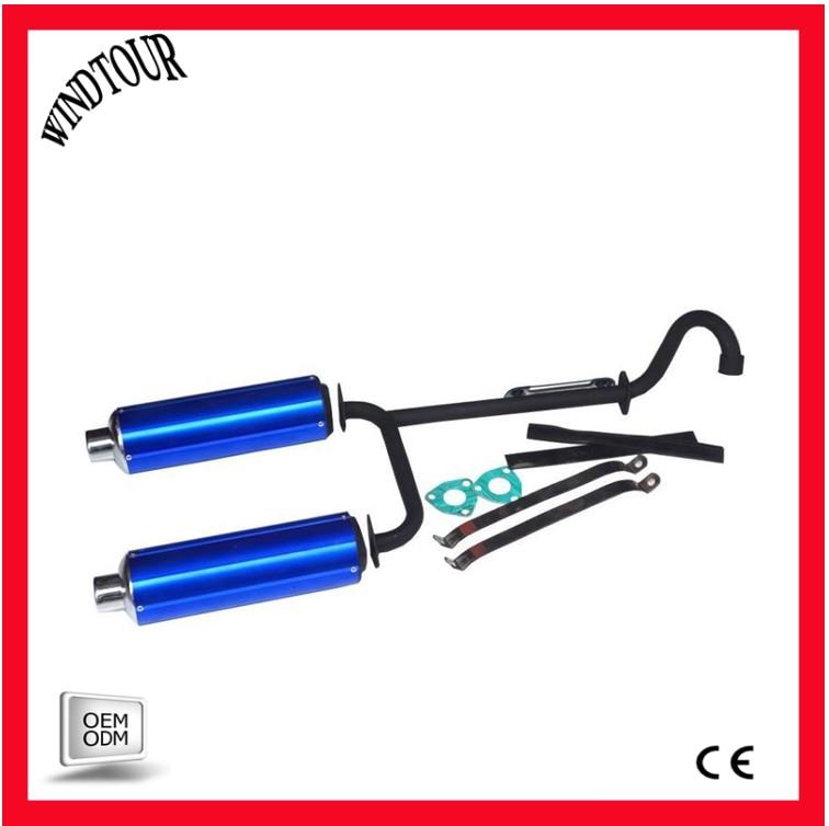 Acheter 110 125cc dirt bike silencieux 2 tuyau de Silencieux et Échappement Systèmes fiable fournisseurs