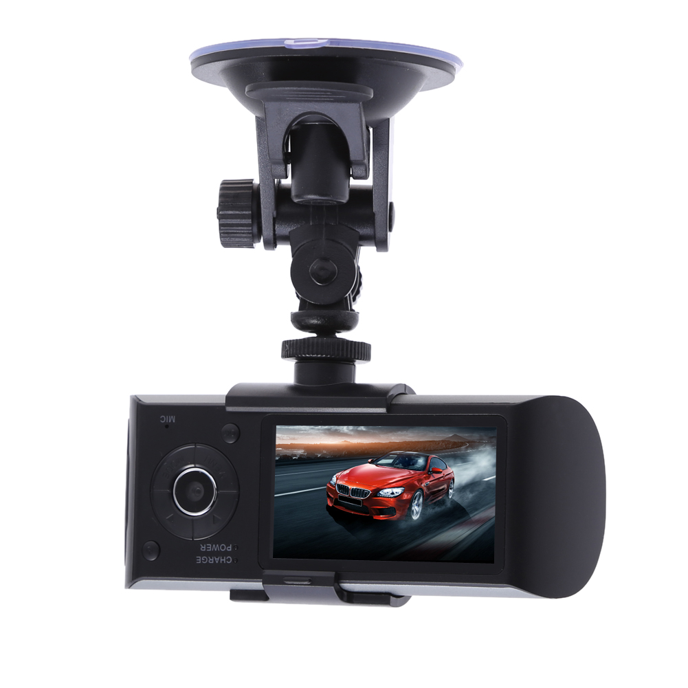 VODOOL 2.7 inch Car DVR HD 1080P Camera Dual Lens Dashcam Video Registrator Recorder G-sensor Night Vision Support GPS 2 7 inch r310 tft lcd dual 2 lens car dvr video recorder