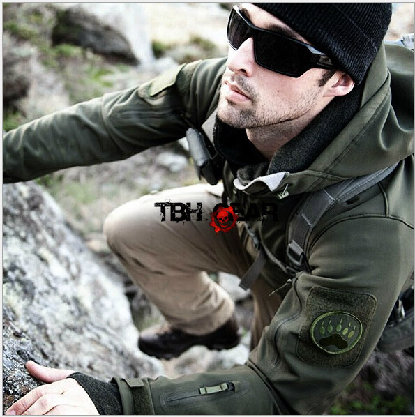 TAD Gear Style Softshell Jacket Men Outdoor Jacket Wind Waterproof Multicam etc.+Free shipping(SKU12050403) tad jacket men waterproof zipper windbreaker multicam tan gray bk acu od cl 05 winter jacket