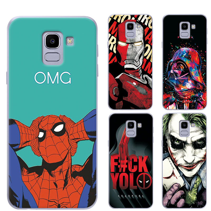 "US $1.07 21% OFF|adlucky For Samsung Galaxy J6 2018 Case Charming Hero iron Man Back Cover J6 2018 Silicone Phone Case For Samsung J6 2018 5.6"" -in Fitted Cases from Cellphones & Telecommunications on Aliexpress.com 