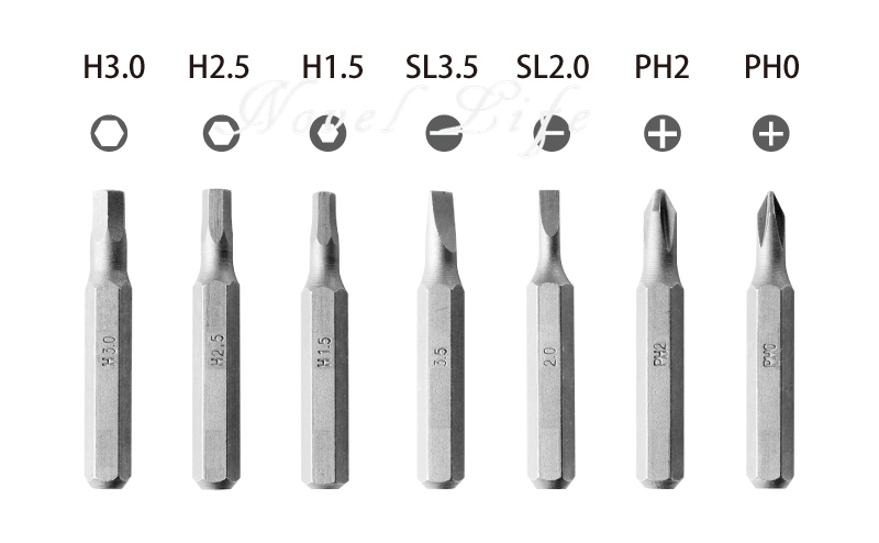 Mini Lithium screwdriver wowstick 1s with 27pcs electric