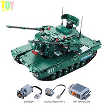 Mailackers Military Series Sets Compatible Technic Remote Control The M1A2 RC Tank Battle Wars Building Blocks Toy For Children(China)