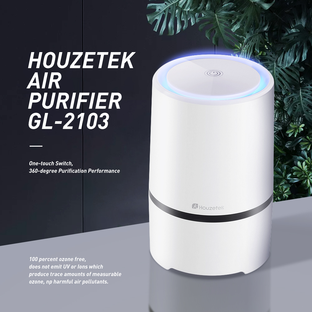 Houzetek Air Purifier HEPA Filter Portable Ozone Ionic Air Purifier Air Cleaner Remove Smoke Odor Bacteria Mini Ozone Purifier все цены