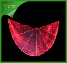 LED Clothing Wing Luminous Fiber Clothe LED Costumes Glowing Wing Suit Women Glowing Fiber Ball Dance Dress Accessories