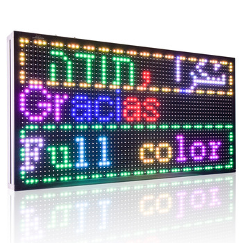 P10 Full Color SMD 32 * 64 pixel LED Display board / digital writing shop LED Advertising sign