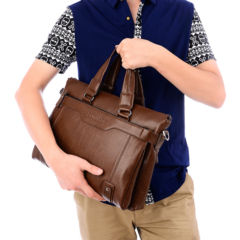 Деловой портфель, Диагональная Сумка, мужская сумка с буквенным принтом, сумка для компьютера, портфель, мужская сумка на плечо - 6