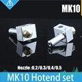1 КОМПЛ. 3d-принтер Makerbot М7 резьба MK10 Экструдер латунь Сопла Hotend комплект 0.2/0.3/0.4/0.5 мм для FlashForge, Wanhao I3 D4, Dremel