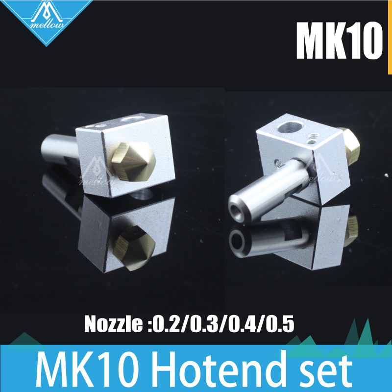1SET 3D printer Makerbot M7 thread MK10 Extruder brass Nozzle Hotend kit 0 2 0 3